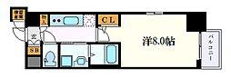 名古屋市営東山線 今池駅 徒歩2分の賃貸マンション 7階1Kの間取り