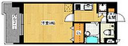 ピュアドームアリオス博多[705号室]の間取り