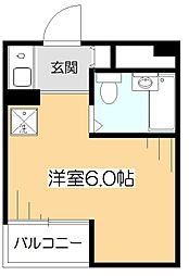 東京都東村山市栄町2の賃貸マンションの間取り