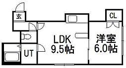 ペブル平岸壱番館[3階]の間取り
