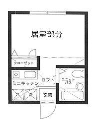 ハーミットクラブハウス鶴ヶ峰A棟[2階]の間取り