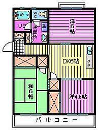 第一西形マンション[2階]の間取り