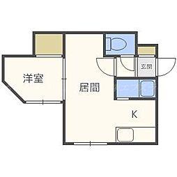 グランデージN41[3階]の間取り