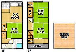 [一戸建] 大阪府大阪市大正区千島1丁目 の賃貸【/】の間取り
