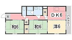 ハイツガルム[3-F号室]の間取り