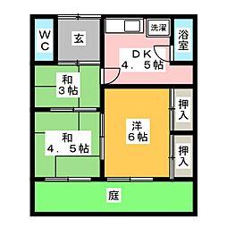 [一戸建] 愛知県北名古屋市九之坪長堀 の賃貸【/】の間取り