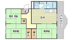 ローレルハイツ田井[B501号室]の間取り
