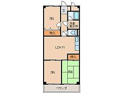 レジデンス安庵II[1階]の間取り