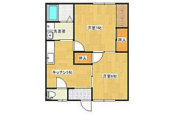 LUNAスッド[2階]の間取り