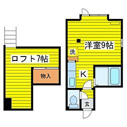 北海道札幌市東区北十四条東14丁目の賃貸アパートの間取り
