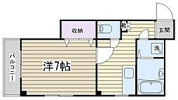 東京都北区田端4丁目の賃貸マンションの間取り
