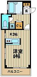 東京都府中市住吉町2丁目の賃貸マンションの間取り