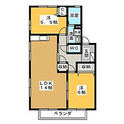 フレグランス藤塚 A棟[2階]の間取り