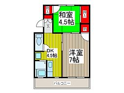 丸弘ハイツ[4階]の間取り