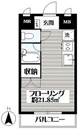東京都世田谷区世田谷1丁目の賃貸マンションの間取り
