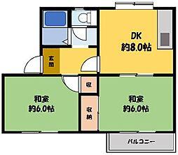 メゾン舞[1階]の間取り