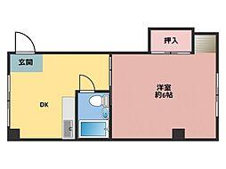 加野ハイツ[5階]の間取り