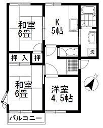 セゾン渋谷 A[201号室号室]の間取り
