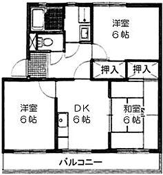 シティ・ナカヤマ A棟[202号号室]の間取り