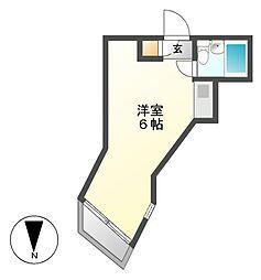 プレスイン豊[3階]の間取り