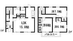 [テラスハウス] 兵庫県宝塚市南口2丁目 の賃貸【/】の間取り