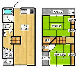 [一戸建] 大阪府堺市東区日置荘西町6丁 の賃貸【/】の間取り