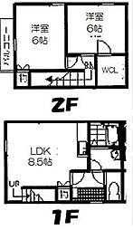 [テラスハウス] 福岡県太宰府市国分4丁目 の賃貸【/】の間取り