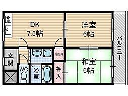 オーソライズ茨木[2階]の間取り
