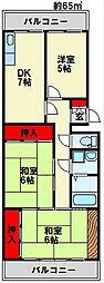 柏田ハイツ[1階]の間取り