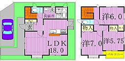 [一戸建] 千葉県柏市つくしが丘4丁目 の賃貸【千葉県 / 柏市】の間取り
