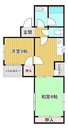 桜館8[3階]の間取り