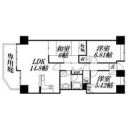 静岡県浜松市中区成子町の賃貸マンションの間取り