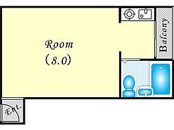JPアパートメント東淀川III[2階]の間取り