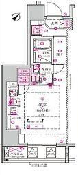 都営三田線 西巣鴨駅 徒歩7分の賃貸マンション 5階ワンルームの間取り