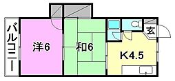 エトワール松山[203 号室号室]の間取り