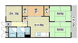 メゾン小松[301号室]の間取り