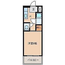 宮崎県宮崎市天満町の賃貸マンションの間取り