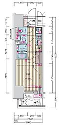 名古屋市営鶴舞線 丸の内駅 徒歩7分の賃貸マンション 12階1Kの間取り