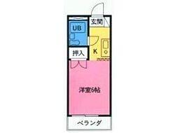 アパートメント・クリサンセマム[2階]の間取り