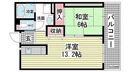 HAT神戸・灘の浜11号棟[5階]の間取り