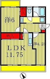 カーサ六高台[1階]の間取り