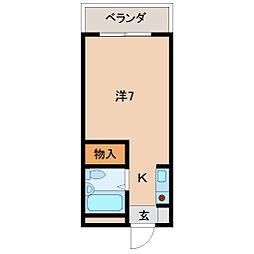 四番丁ハイム[2階]の間取り