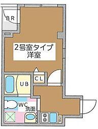 JR京葉線 八丁堀駅 徒歩6分の賃貸マンション 6階1Kの間取り