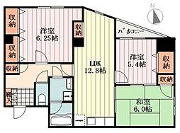 東京都あきる野市舘谷の賃貸マンションの間取り