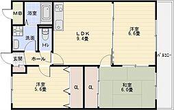 サンウォーク2[1階]の間取り
