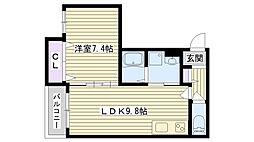 クリエオーレ諸口III[2階]の間取り