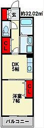 TAKADA.BLD.NO2 4階1DKの間取り