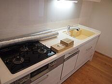 大きめキッチン、食器洗濯乾燥機が標準設備です