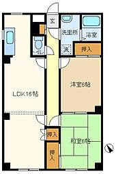 埼玉県春日部市一ノ割3丁目の賃貸マンションの間取り