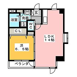 愛知県名古屋市西区鳥見町4丁目の賃貸マンションの間取り